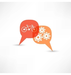 repair a bicycle vector image vector image