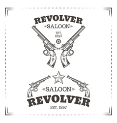 Revolvers vector image vector image