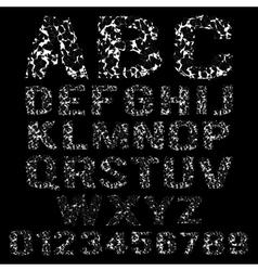 Set of broken white frame alphabet vector