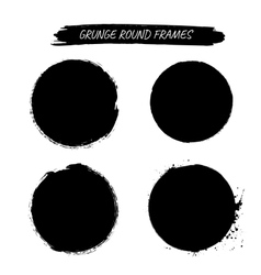 Set of grunge round frames vector image