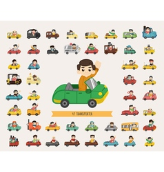 Set of transporter characters eps10 format vector image vector image