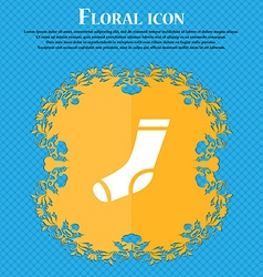 Socks icon sign floral flat design on a blue vector