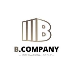 trendy isometric B letter logo vector image vector image
