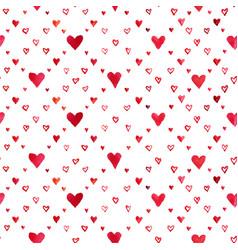 Watercolor hearts pattern vector