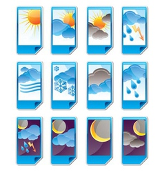 weather and nature icons vector image