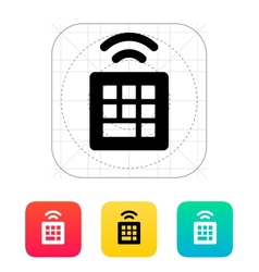 Wireless small keyboard icon vector
