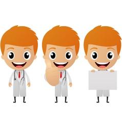 young doctor cartoon vector image vector image