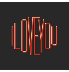 I love you note lettering print t-shirt vector