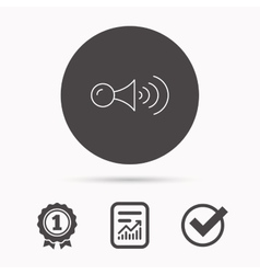 Klaxon signal icon car horn sign vector