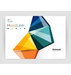 Annual report geometric template vector