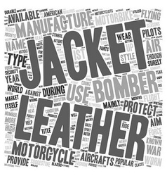 Motorbike leather jackets and bomber leather vector