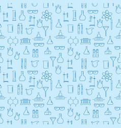 seamless pattern with chemical laboratory vector image