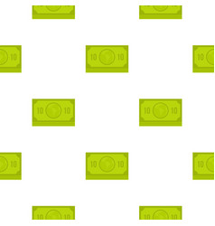 Green money banknote pattern flat vector