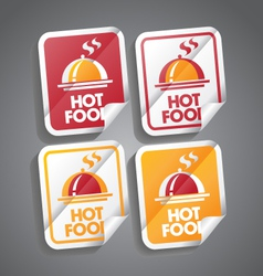 Hot food sticker vector