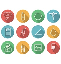 Colored icons for anesthesiology vector