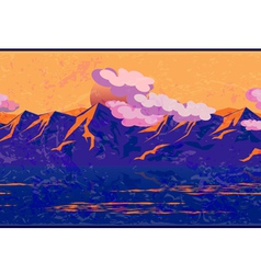 Mountains in the manner of impressionism vector