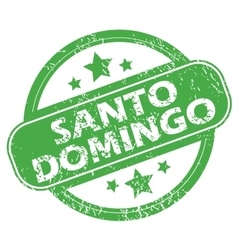 Santo domingo green stamp vector