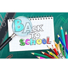 Back to school background with colorful pencils vector