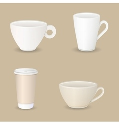 Various coffee cups vector
