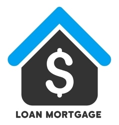 Loan mortgage icon with caption vector
