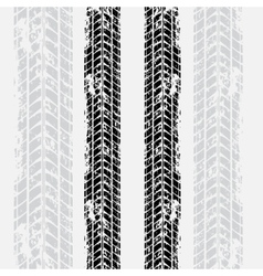 Tire tracks grunge background vector image