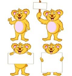 koala collection vector image
