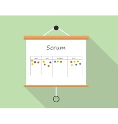 Scrum project development and managemet vector