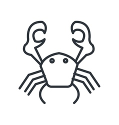 Crab isolated icon design vector