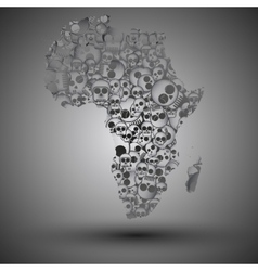 Africa map in the form of skulls background vector