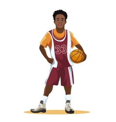 Basketball player in uniform vector image vector image