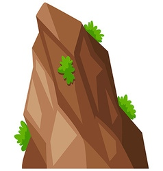Big rock with green grass vector