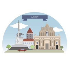 Catania vector image vector image