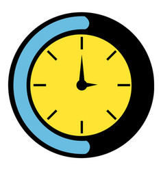 clock icon icon cartoon vector image