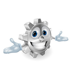 cog cartoon character vector image