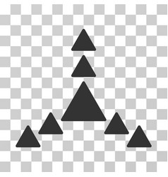 Direction triangles icon vector