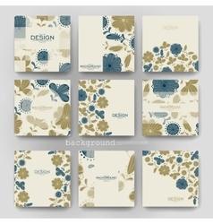 Floral background brochure template flyer vector