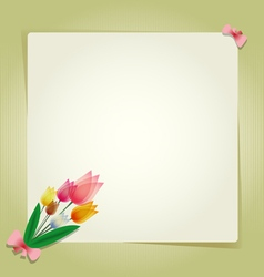 Flower tulip card or background vector image