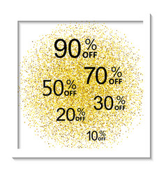 Golden shiny background with frame vector