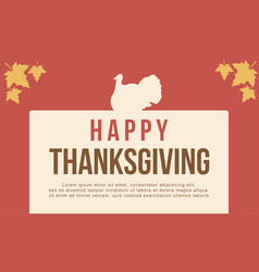 greeting card thanksgiving style flat vector image