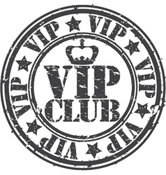 Grunge vip club rubber stamp vector