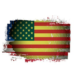 Old American flag vector image vector image