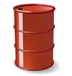 Red steel barrel vector image