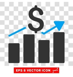 Sales bar chart eps icon vector