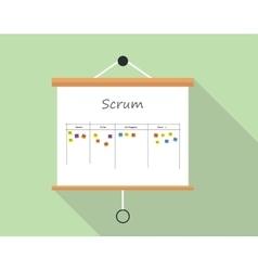 Scrum project development and managemet vector