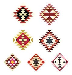 set decorative ethnic with american indian vector image