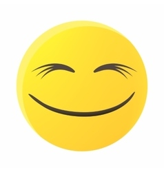 Smiling emoticon with smiling eyes icon vector image vector image