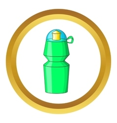 Sports water bottle icon vector