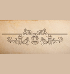 vintage old paper texture with floral vignette vector image vector image