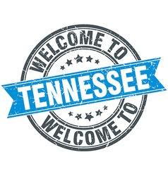Welcome to tennessee blue round vintage stamp vector