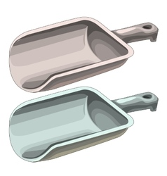 Plastic handsome scoops for solids isolated vector